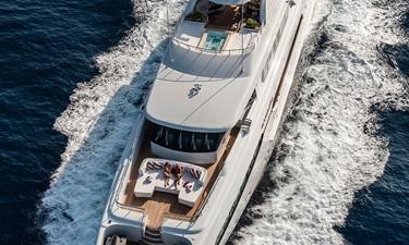 Aerial: ATOM 147' 2014/2019 Sunrise Tri-Deck Motor Yacht
