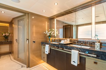 Master Bathroom: ATOM 147' 2014/2019 Sunrise Tri-Deck Motor Yacht