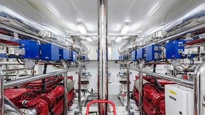 Engine Room: ATOM 147' 2014/2019 Sunrise Tri-Deck Motor Yacht