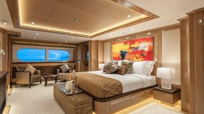 Master Stateroom: ATOM 147' 2014/2019 Sunrise Tri-Deck Motor Yacht