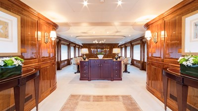 MAIN DECK ENTRANCE: ONE MORE TOY 155' 2001/2018 Christensen Tri-Deck Motor Yacht
