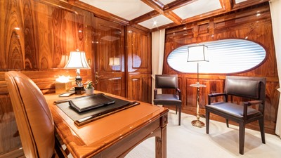 MASTER STATEROOM PRIVATE OFFICE: ONE MORE TOY 155' 2001/2018 Christensen Tri-Deck Motor Yacht
