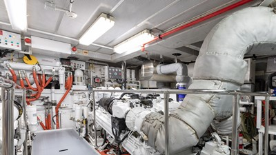 ENGINE ROOM: ONE MORE TOY 155' 2001/2018 Christensen Tri-Deck Motor Yacht