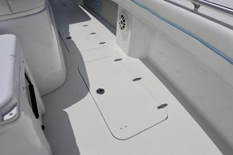 In-deck storage and fishboxes