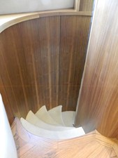Spiral Stairs below to Staterooms