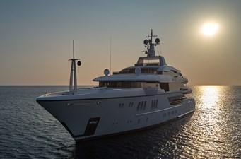 Anchor sunset port bow