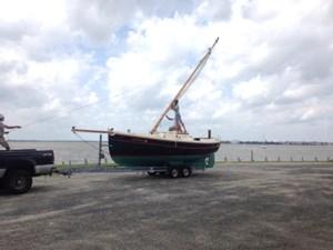lowering the folding mast