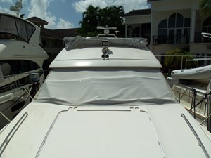 Current Affair 48 Bow facing aft (in storage mode)