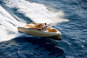Custom 6.85m Tender with 2 x 160hp engines coupled to jets