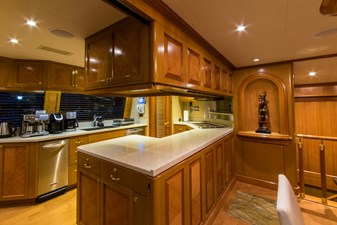 Galley with privacy wall down