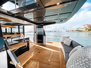 Aft deck with balconies opened