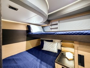 Guest Double with overhead Bunk bed
