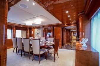 Dining Fwd: ASPEN ALTERNATIVE 164' 2010 Trinity Tri-Deck Motor Yacht
