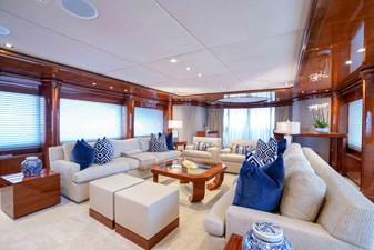 Main Salon Aft: ASPEN ALTERNATIVE 164' 2010 Trinity Tri-Deck Motor Yacht