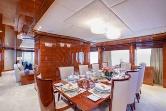 Dining Aft: ASPEN ALTERNATIVE 164' 2010 Trinity Tri-Deck Motor Yacht