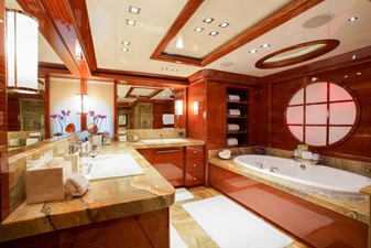 Master Bathroom: ASPEN ALTERNATIVE 164' 2010 Trinity Tri-Deck Motor Yacht