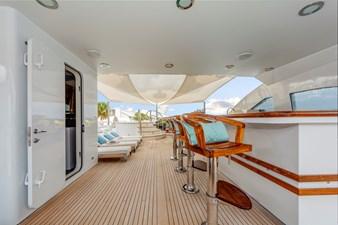 Sun Deck Cocktail Bar and Day Head:  ASPEN ALTERNATIVE 164' 2010 Trinity Tri-Deck Motor Yacht