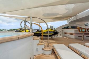 Sun Deck Aft Jacuzzi:  ASPEN ALTERNATIVE 164' 2010 Trinity Tri-Deck Motor Yacht