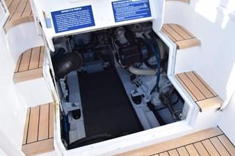 Engine room entrance from cockpit