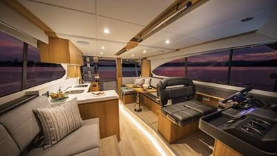 Riviera-39-Open-Flybridge-Saloon-01-Satin-Oak-Timber-Finish