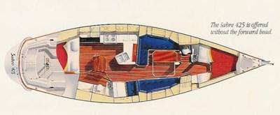Sabre 425 Interior Drawings