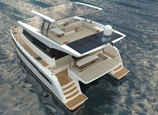 Electric Yachts Silent Yachts 44 Aft PORT Top