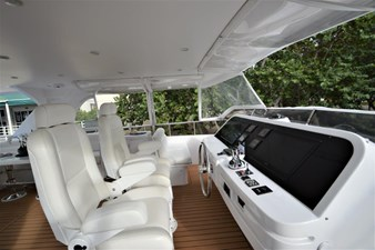 Flybridge Pilot Chairs and Enclosure