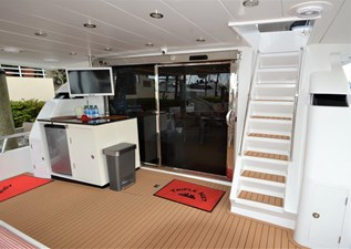 Aft Deck Stairs and Bar