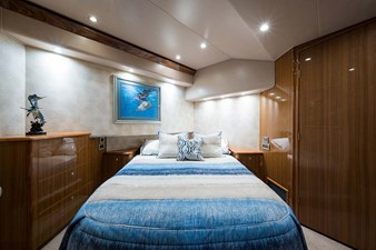 Master Stateroom w/Queen Bed (on angle) and Storage Under