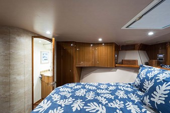 Forward Stateroom with Overhead Hatch w/Screen & Black Out