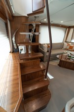 Stairs to Enclosed Flybridge