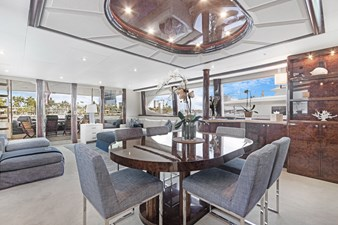 BELLA GIORNATA 10 BELLA GIORNATA 94' Lazzara 2000/2018 Flybridge Motor Yacht: Main Salon Dining Area