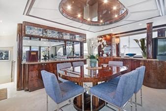 BELLA GIORNATA 9 BELLA GIORNATA 94' Lazzara 2000/2018 Flybridge Motor Yacht: Main Salon Dining Area