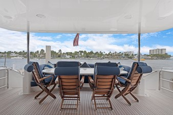 BELLA GIORNATA 6 BELLA GIORNATA 94' Lazzara 2000/2018 Flybridge Motor Yacht: Aft Deck