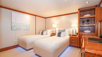 Port Aft Stateroom with convertible twins