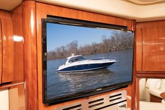 WAKE PERMIT 24 TV in the galley/salon area