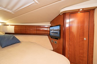 WAKE PERMIT 29 TV in the master stateroom