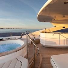 Sun Deck Jacuzzi - EXODUS Sunseeker 131 for sale