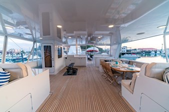 Flybridge Looking Aft With Wheelhouse Access Starboard Side
