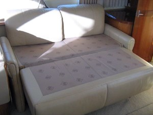 salon starboard settee made into bed