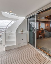 Aft Deck Stairwell to Flybridge