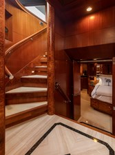 Stairwell from Pilothouse to Owner/Guest Staterooms