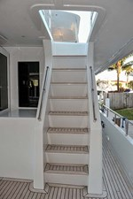 Stairs to Flybridge from Aft Deck