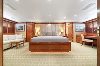 VIP/2nd Master Stateroom: M4 131' 1999/2020 Trident Shipworks Tri-Deck Motor Yacht