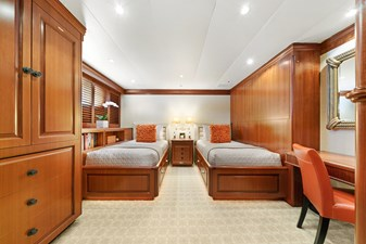 Twin Guest Stateroom: M4 131' 1999/2020 Trident Shipworks Tri-Deck Motor Yacht