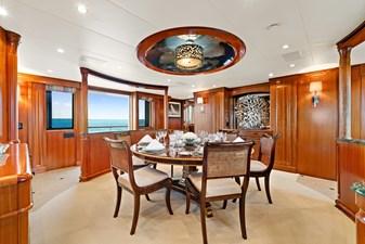 Dining Room: M4 131' 1999/2020 Trident Shipworks Tri-Deck Motor Yacht