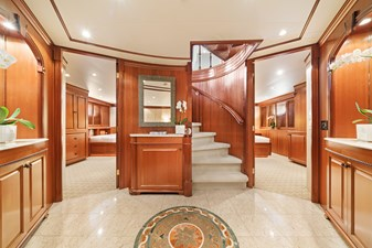 Lower Deck Guest Foyer: M4 131' 1999/2020 Trident Shipworks Tri-Deck Motor Yacht