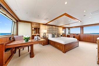 Master Stateroom: M4 131' 1999/2020 Trident Shipworks Tri-Deck Motor Yacht