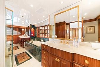 Master Bathroom: M4 131' 1999/2020 Trident Shipworks Tri-Deck Motor Yacht