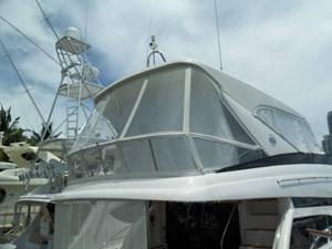 Custom Aft Flybridge Enclosure